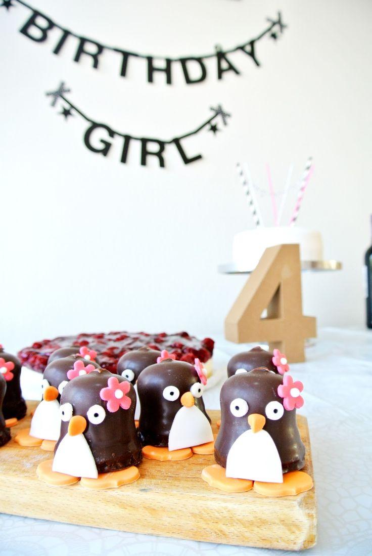 Schokokuss Pinguine für den Kindergeburtstag