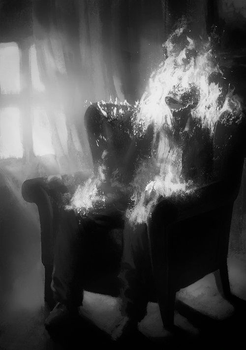 scary death trippy Black and White suicide creepy weird alone Scared dead dying empty haunted darkness Macabre eerie burning haunting dark a...