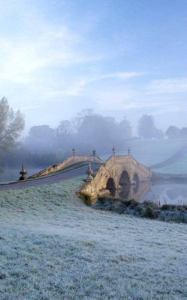 The Oxford Bridge at Stowe, Buckinghamshire, England.