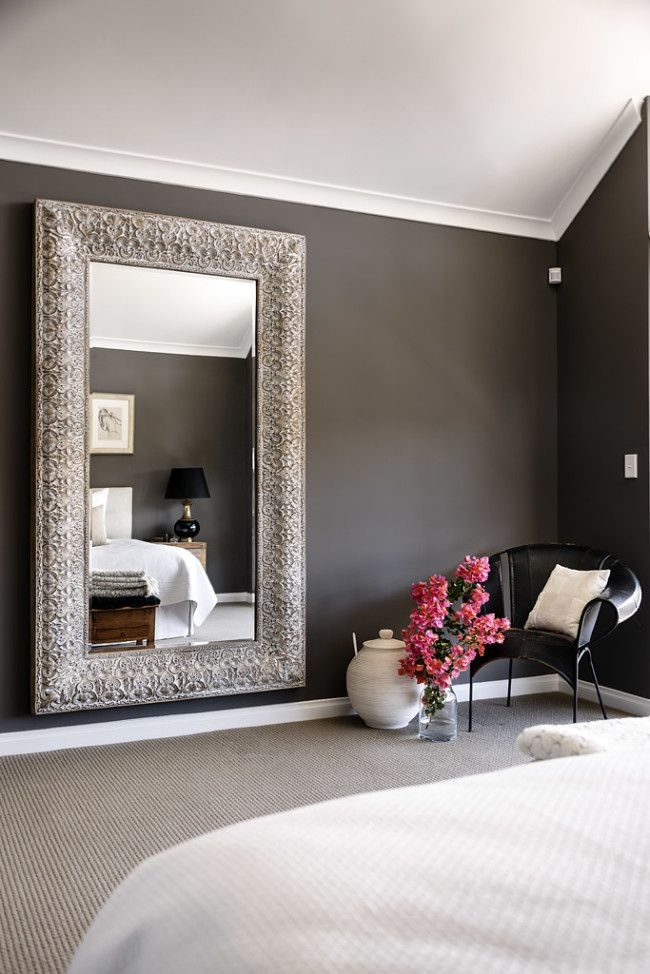 I love how the wall color is so dark  yet the room does not appear gloomy   It still has light and air  Also  the wall paint looks like chalkboard. 17 Best ideas about Bedroom Wall Colors on Pinterest   Wall colors