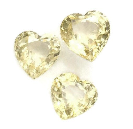 Heart Shape Loose Natural Sapphire Stones, Natural Not Treated Sapphire Stones, Heart Shape Loose Yellow Sapphire Stones, Genuine Sapphire by BridalRings on Etsy https://www.etsy.com/listing/466946275/heart-shape-loose-natural-sapphire