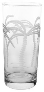 Palm Tree Cooler 15oz, Set of 4 - tropical - everyday glassware - by Rolf Glass