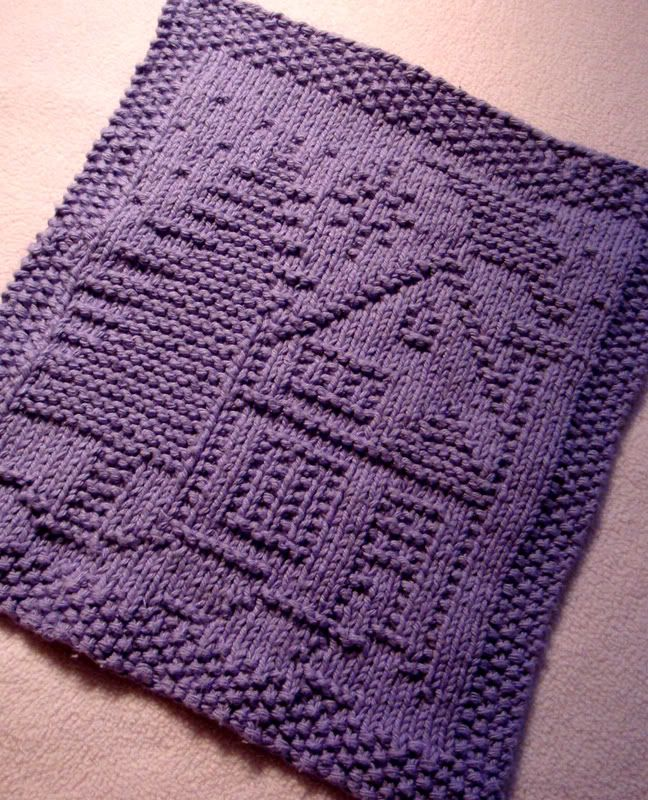 Free pattern. A Christmas Dishcloth