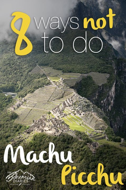 Rookie mistakes to avoid when visiting Machu Picchu. [ TIP – If hiking to Machu Picchu from town you will be asked for ID with your ticket at the aforementioned gates. Also, get your passport stamped just outside the gift shop at the park entrance. It's not well advertised but you won't want to miss it! ]