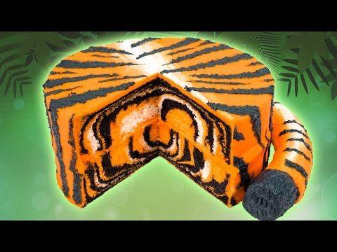 So AWESOME...Tiger Cake: Surprise Inside Animal Print Cake via cookiescupcakesandcardio.com  http://cookiescupcakesandcardio.com/?s=Tiger+cake