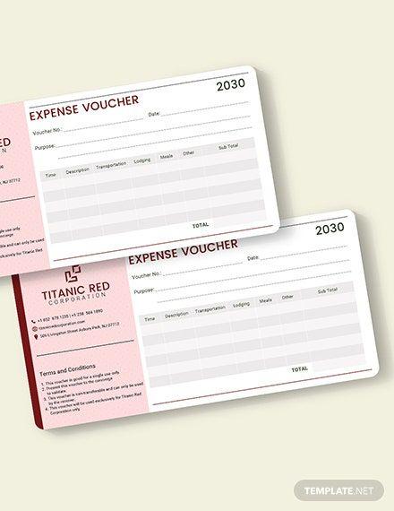Cash Expense Voucher Template - Word | PSD | Apple Pages ...