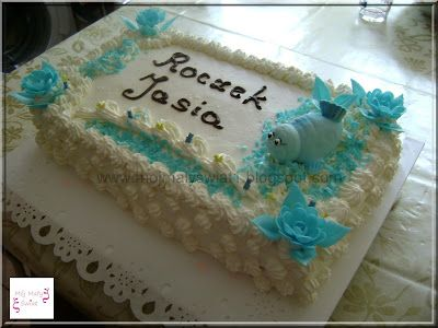 Tort na roczek dla chłopca - Mama-Kreatywna
