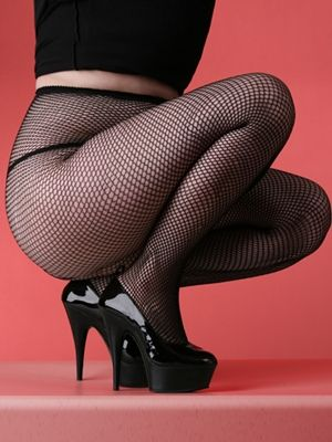 Fishnets are pretty much a terrifying must.