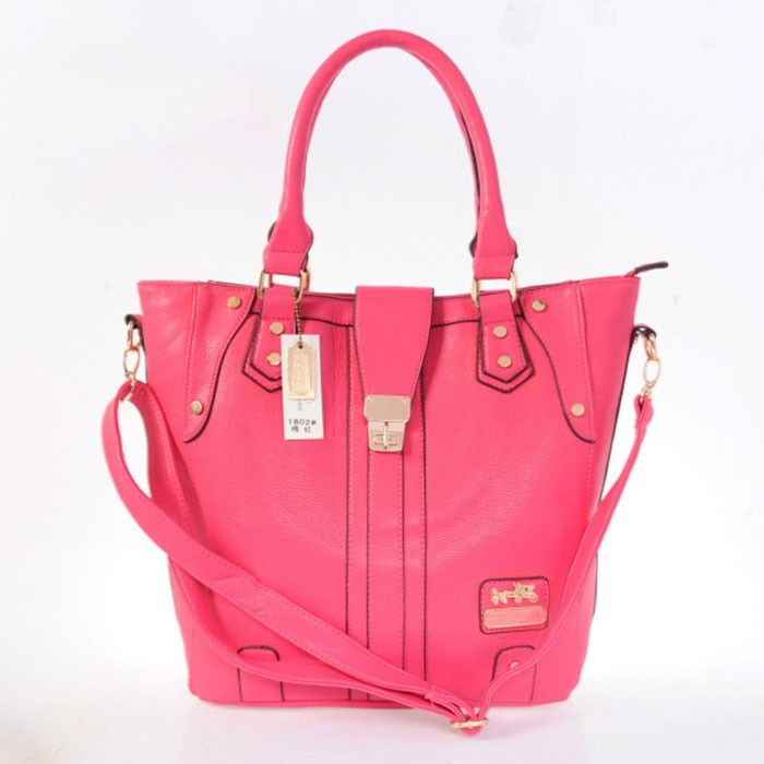 Coach Logo Charm LZ1802 Satchel In Red