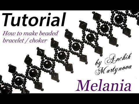"Tutorial: Beaded choker ""Melania"" (Gothic style) / Чокер из бисера ""Мелания"" (Готический) - YouTube"