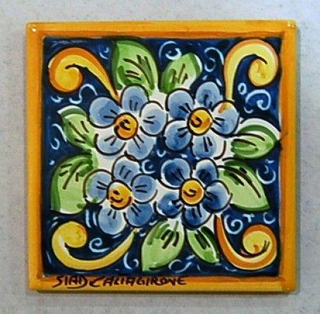 Oltre 1000 idee su piastrelle dipinte su pinterest for Piastrelle cucina caltagirone