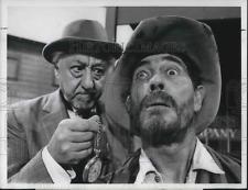 1970 Press Photo Benny Rubin and Ken Curtis star on Gunsmoke TV Show - orp12367