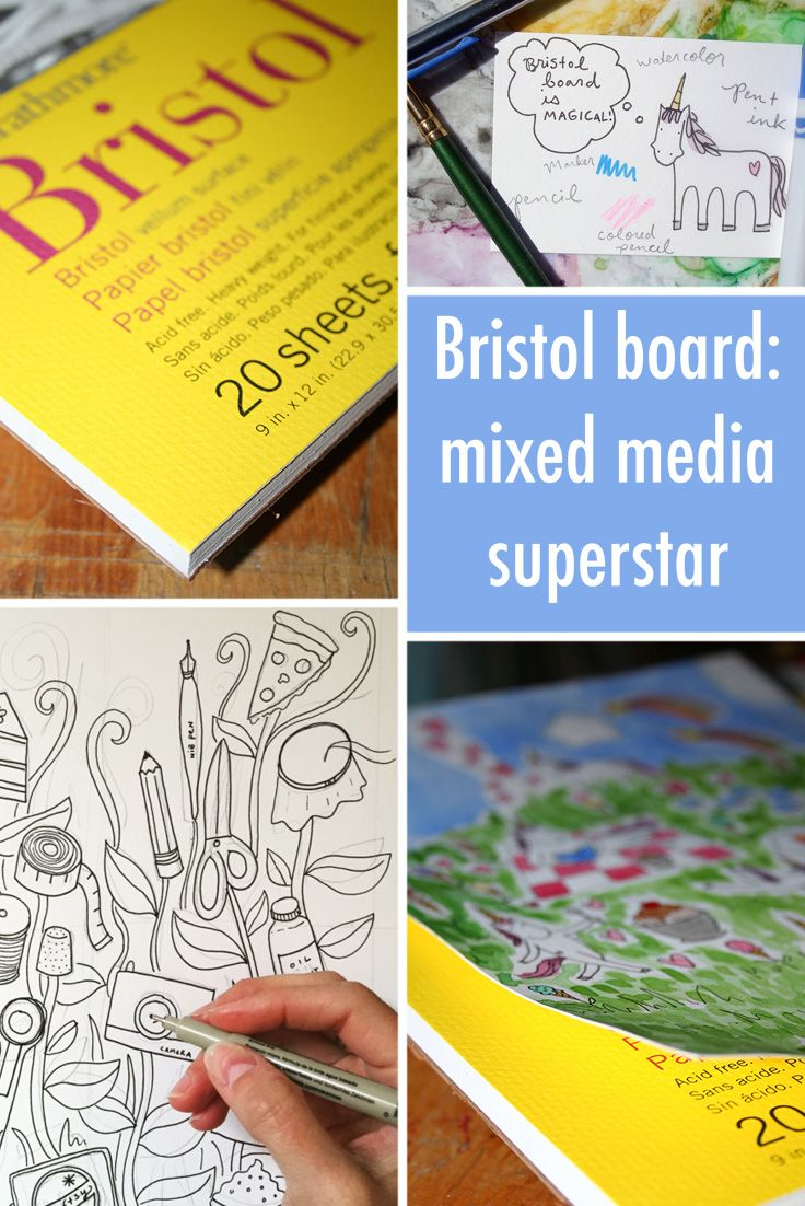 Bristol board: what it is and how you can use this mixed media super star