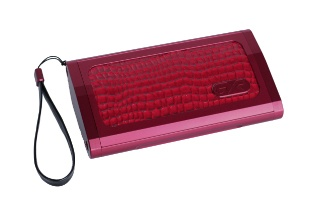 """GYRstyle clutch - """"ROSETTE RED"""" - Color Combo: Scarlet and Blood Red. See how our clutch design closes. Like no other !!! Take your outfit to the Luxe level !!!! Shop our Collection today."""