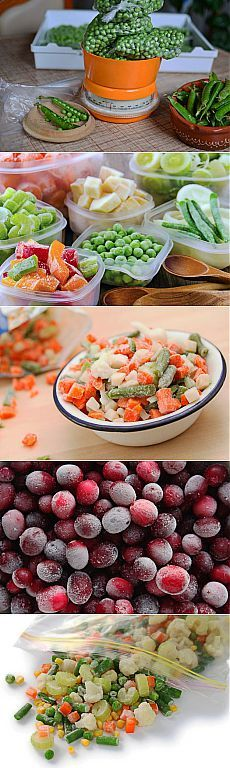 Как заморозить сезонные овощи, фрукты, ягоды и травы