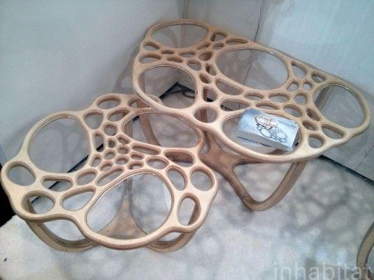 ICFF, International Contemporary Furniture Fair (ICFF), New York design show, green events, New York Design Week, sustainable design, eco-design, green design, CNC router, Nervous System, Massachusetts green designers, DIY table design, online table design
