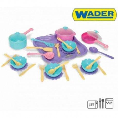 Naczynia do zabawy w gotowanie dla Dzieci już od 1 roku!!!  Całość została wykonana z wysokiej jakości tworzywa sztucznego.  Wader 22070 - 31 Elementowy Zestaw Obiadowy do Zabawy w tym: garnek, patelnia, rondelek, miski, talerze, widelce....  Wszystkiego wam nie powiemy:) Sprawdźcie sami:)  http://www.niczchin.pl/zabawa-w-gotowanie-dla-dzieci/3080-wader-22070-31-elementowy-zestaw-obiadowy-do-zabawy.html  #wader #naczyniadladzieci #naczyniadozabawy #prezenty #zabawki #upominki #niczchin…