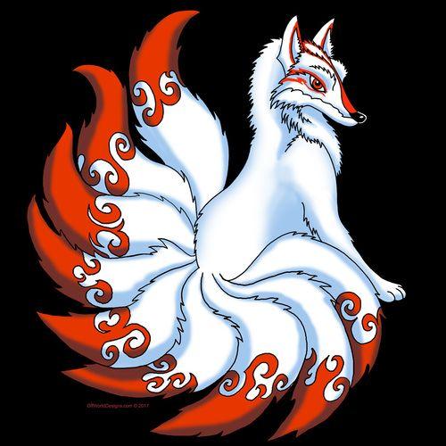 White Kitsune Ladies  V-Neck