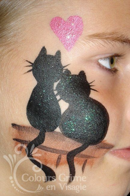Cats In Love Cheek Art Face Painting