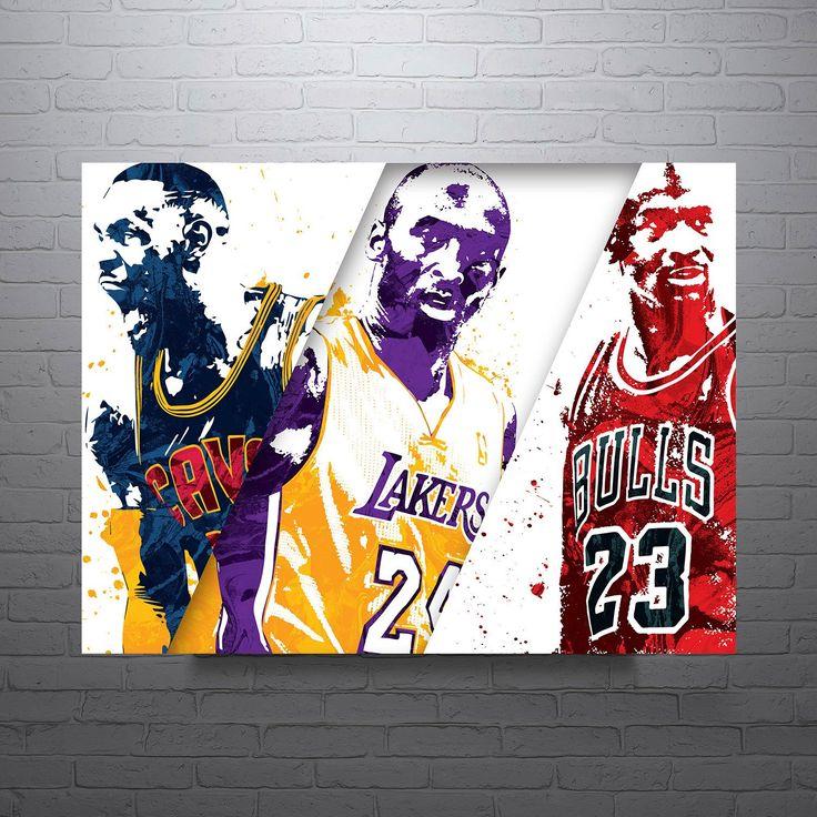 Lebron James, Kobe Bryant, Michael Jordan Poster