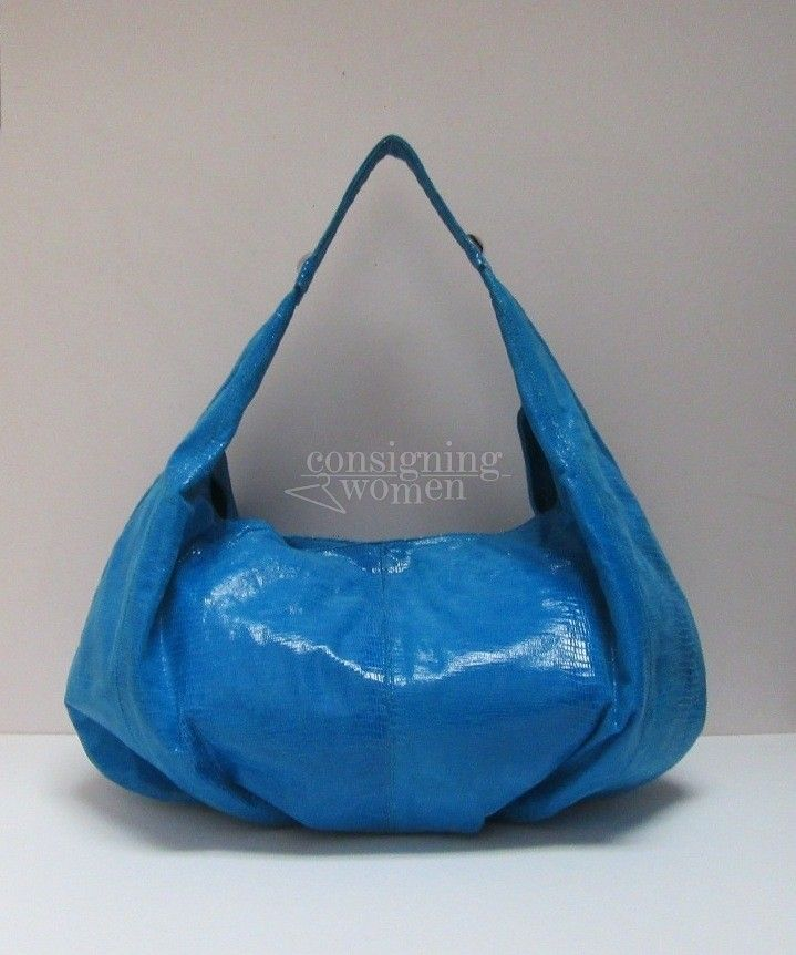 Ted Rossi Teal NYC Python Leather Hobo