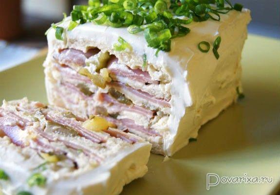 Большой сэндвич - рецепт