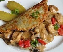 Zobacz zdjęcie Placki po węgiersku   Składniki  Placki ziemniaczane: 10 niedużych ziemniaków...