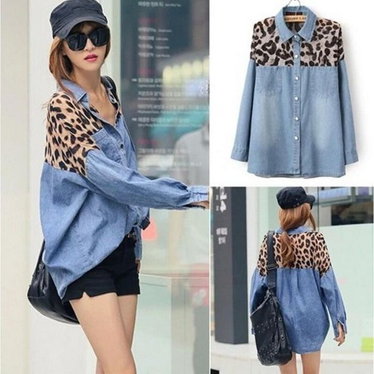 Cheap shirt heat, Buy Quality shirt short sleeve men directly from China shirt metal Suppliers: Pattern:Leopard Sleeve Length:Long Sleeve Size:Free Unique personality and connected leopard denim shirt , loose w