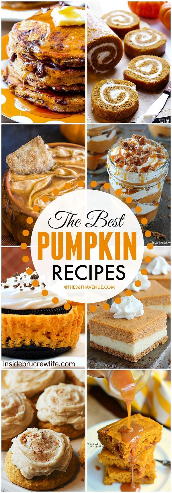 Recipes - Best Pumpkin Recipes at the36thavenue.com These are super good! desserts, baked goods, fall recipes,