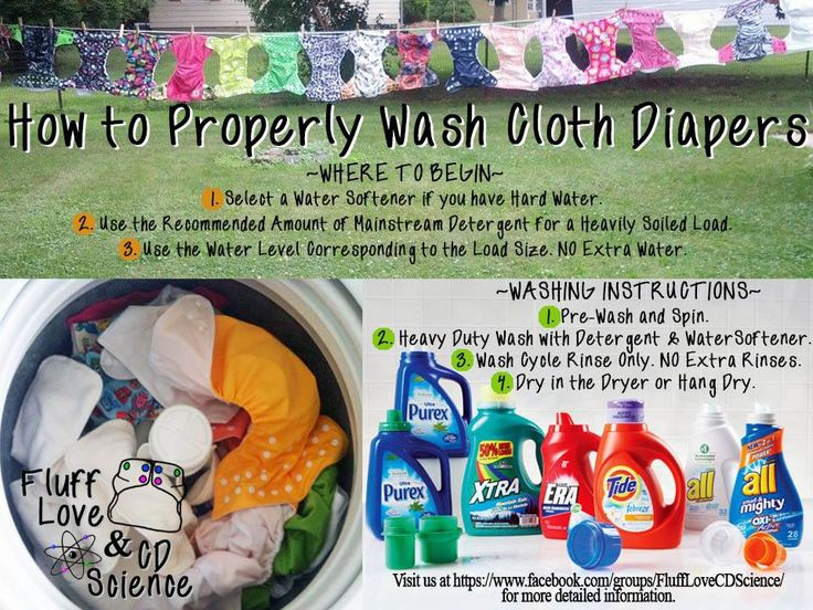 how to properly clean cloth diapers