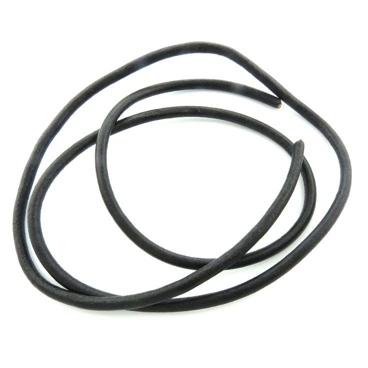 1m echter Lederriemen 6mm (2,98€ pro m) schwarz Lederband Lederschnur | Draht und Band | günstig kaufen bei Bacabella.com Schmuckherstellung | Perlen, Schmuck und Schmuckzubehör zum Schmuck selber machen | Schmuck basteln DIY DoItYourself | ganz individuell und einfach