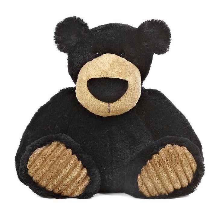 """12"""" Aurora Plush Black Teddy Bear """"Espresso"""" Stuffed Animal Toy 01677 #Aurora"""