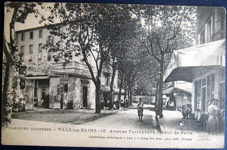 Details about france 1900 39 s vals les bains hotel de for Hotel des bains paris