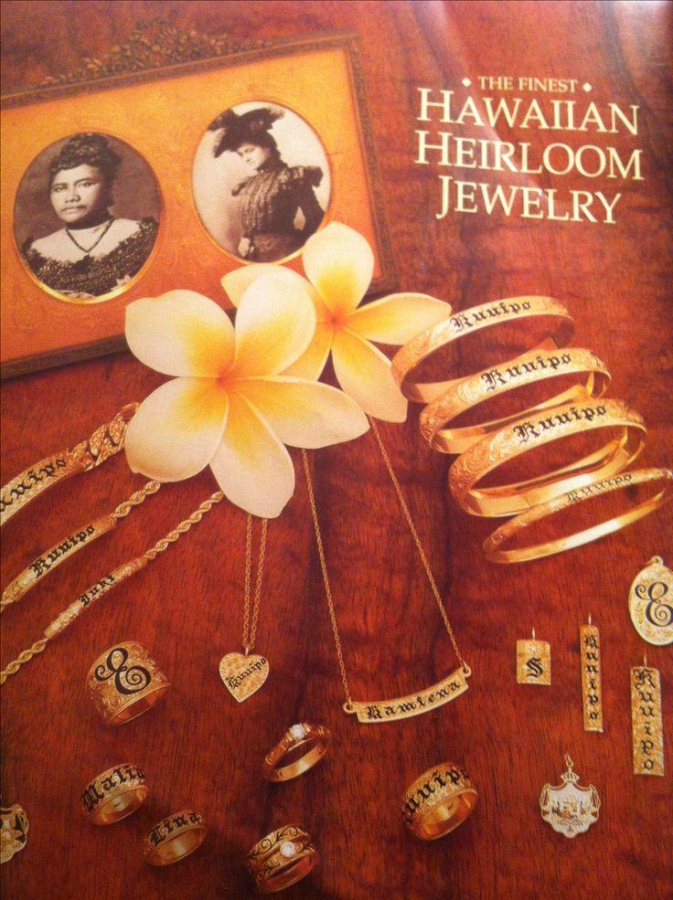 My favorite- Hawaiian Heirloom Jewelry. My daughters name is Malia and my middle name is Kuuipo