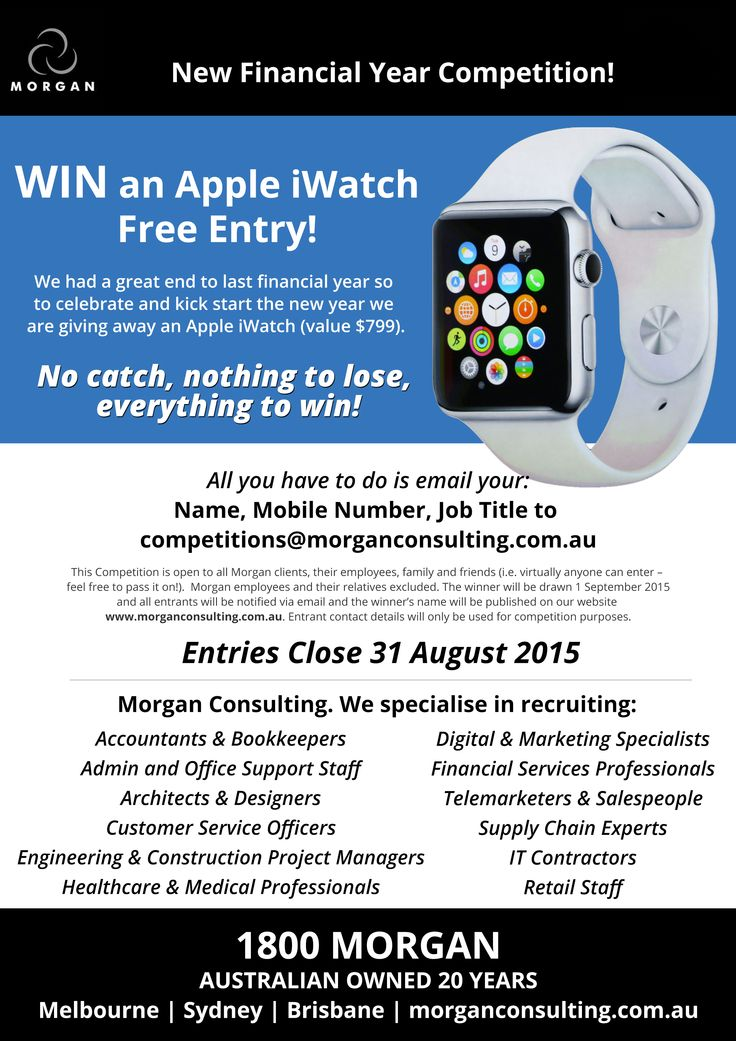 Your chance to win an iWatch!