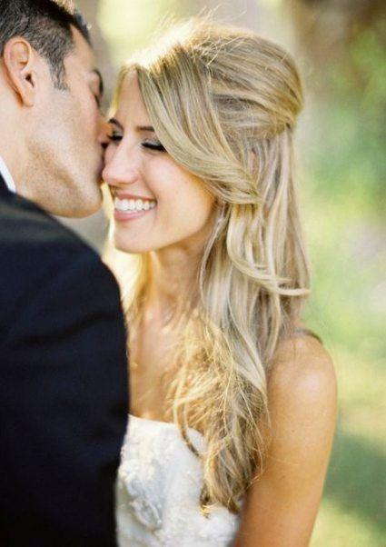 Neue Hochzeitsfrisuren halb hoch halb runter lang mon cheri Ideen