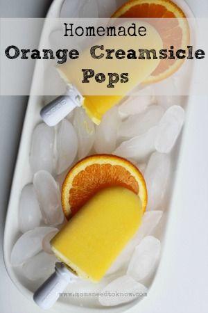 Homemade Orange Creamsicle Pops Recipe