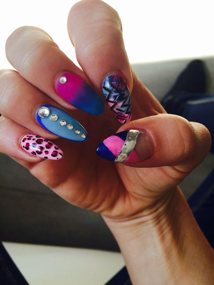 """Nails art """"crazy mix"""""""