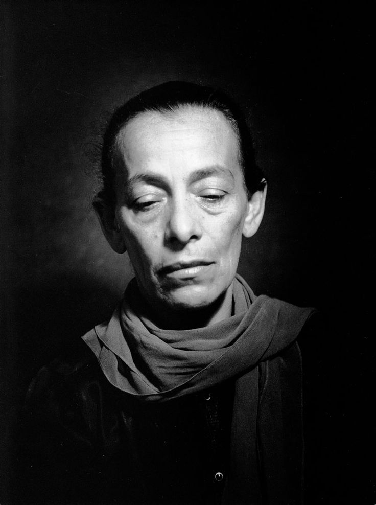 Helene Weigel (1900-1971) - German actress. Second wife of Bertolt Brecht. Photo 1960 by Liselotte Strelow