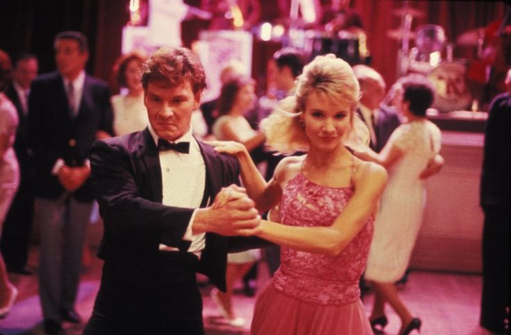 Still of Patrick Swayze and Cynthia Rhodes in Dirty Dancing