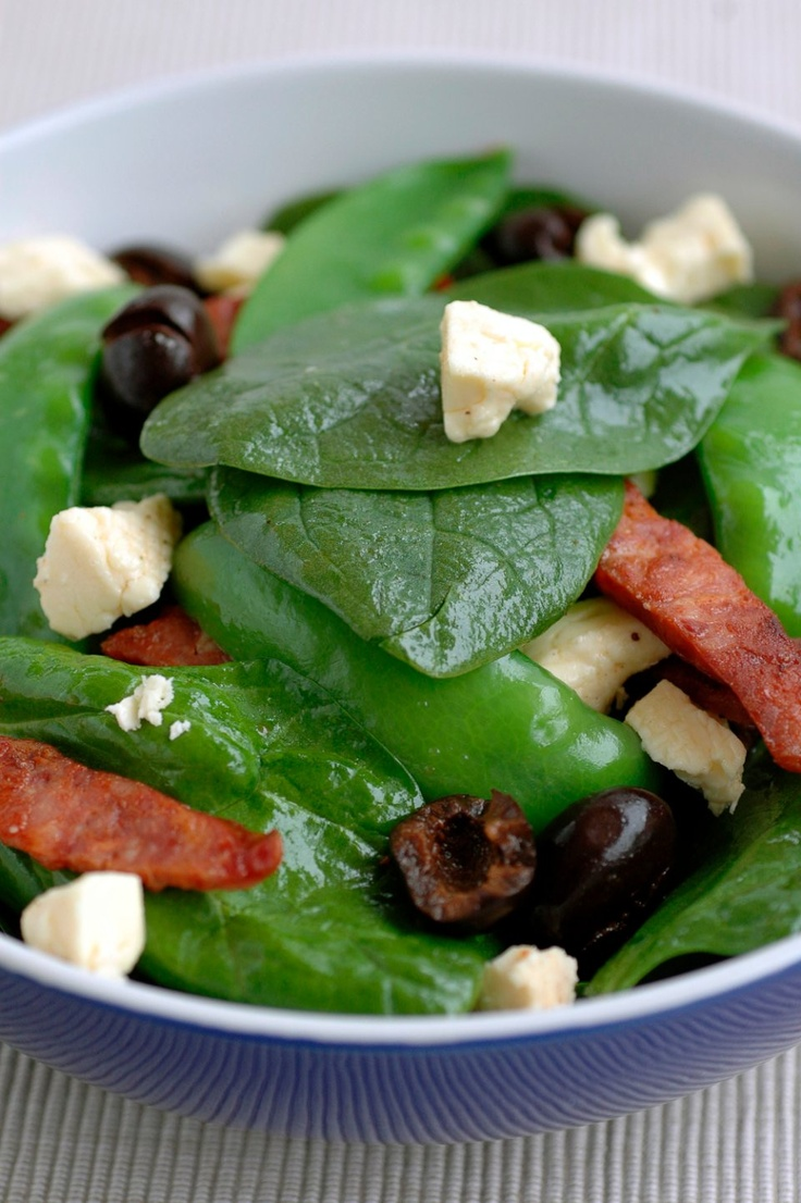 Spinach Salad with Chorizo and Fetta - Chef's Pencil
