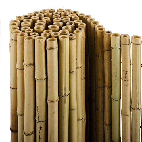 casa pura bambus sichtschutz bambusmatte in premiumqualitt massive bambusrohre naturbelassen drei