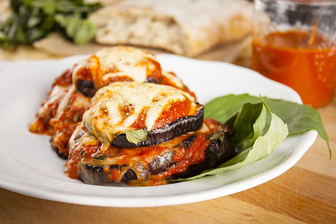 Eggplant Parmesan Stacks/ Essentially a healthier version of Eggplant ...