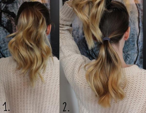 Como fazer rabo de cavalo duplo. Ideal para quem pretende um rabo de cavalo mais longo e volumoso :) #penteados #rabodecavalo