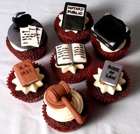 Jurisprudence cupcakes by Sweet Creams                                                                                                                                                                                 More