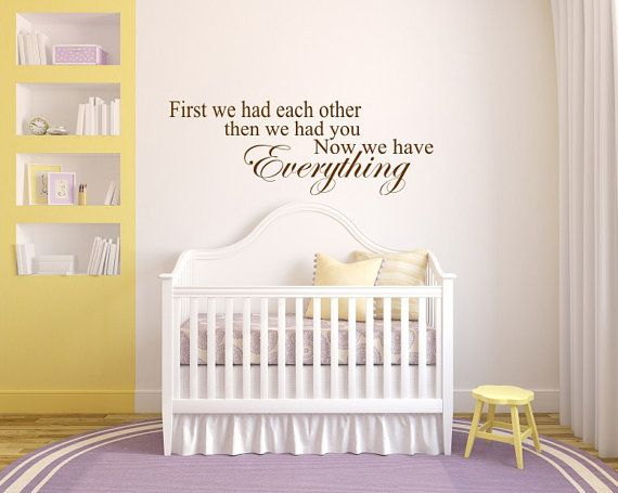 Babys room decal,  Babys room quote, Bedroom wall decal via Etsy