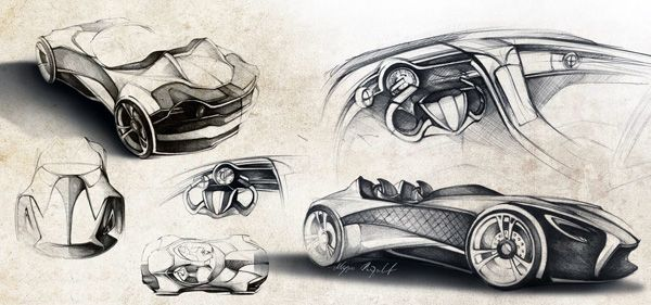 The Ferrari Millenio, as the name might allude, is a futuristic super-car concept that features a complex combination of materials and technologies that we can hope will become a serious reality before the end of the next millenium. The two-seater includes a buckypaper (assemblage nanotube de carbone) reinforced body that is stronger than steel and lighter than carbon fiber.