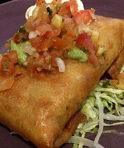 Delicious Ground Beef Chimichangas
