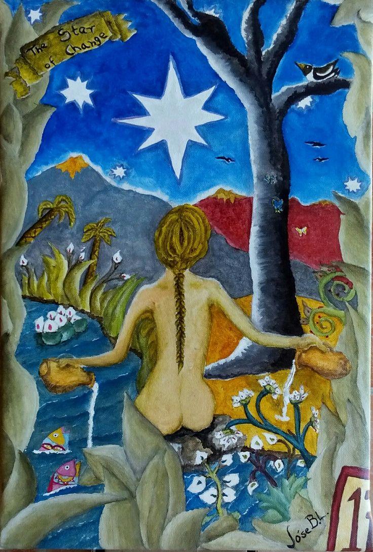 """The Star of Change"" Acrylic on canvas 41 x 28 cm Author: Jóse B.L. www.foundmyself.com/joseblancopaintings"