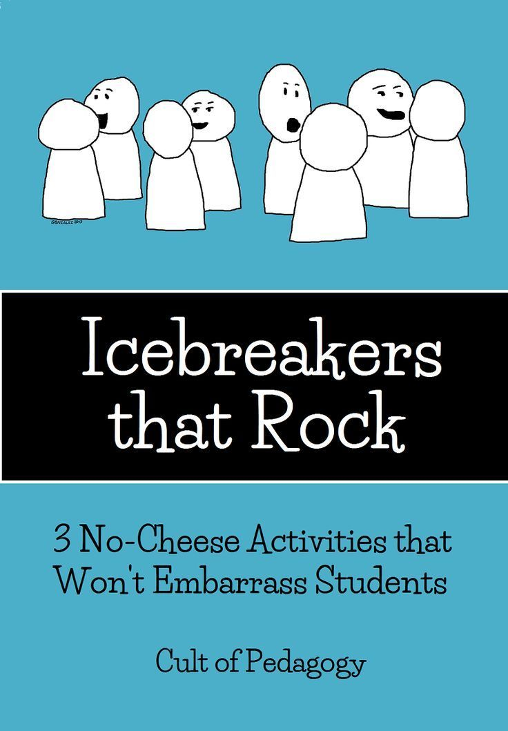 Too many icebreakers require students to take massive social risks with people they barely know. Or they don't really help students get to know each other. Or they are just plain cheesy. Here are three that are actually good.